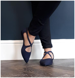 Kitty wide fit buckle flats