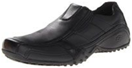 A black color shoes with some solid traction non slip shoes for kitchen staff