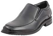 Black color Slip Resistant Work Dress Loafer Shoe for staff hotel, resturant