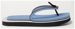 men flip flop sandal with a baby blue panel