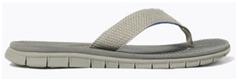 a grey color beach flip flop for men