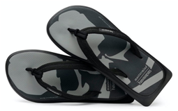 men flip flop with squared-off sole with cloth strap for beach side walking