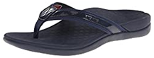 Vionic Women's Tide II Toe Post flip flop black color with arch support