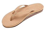 A Rainbow flip flop Premier leather double stack for women with arch support
