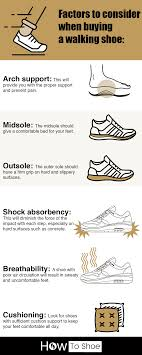 a chart of tips to help you in choosing the right lightweight walking shoes for women