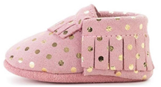 BirdRock Baby Moccasins toddler girl learning their first step shoes