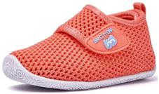 orange and white color breathable walking sneaker for little girls of model  BMCiTYBM Breathable Mesh Sneakers