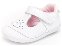 white color mary jane shoes for toddlers girls for their first step learning walking shoes